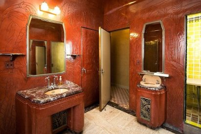 Vintage Venue || Oviatt Penthouse || Art Deco Bathroom