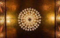 Gold Art Deco Ceiling Chandelier