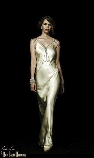 Vintage Deco Slip Gown Johanna Johnson