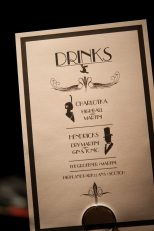 Art Deco Drinks Menu