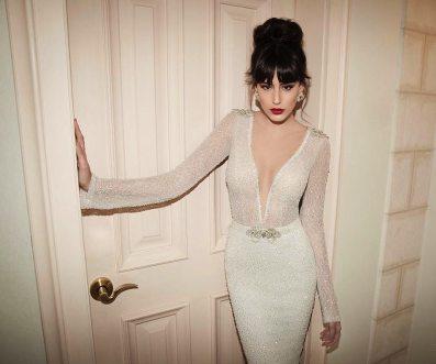 Art Deco Gown Plunging Neckline || Berta