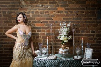 Art Deco Wedding Cake Table