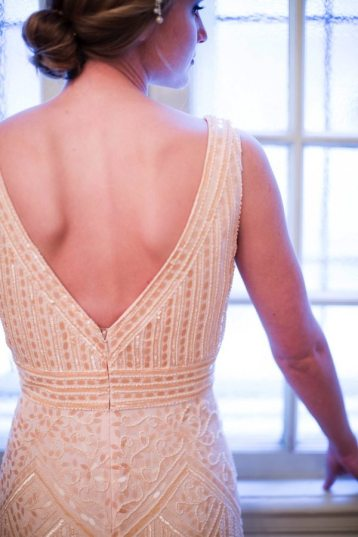 Deco Wedding Dress Back
