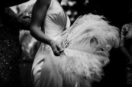 Flapper Wedding Feather Fan