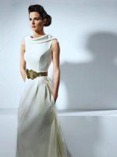 Gold Belted Wedding Gown | Isabel Zapardiez