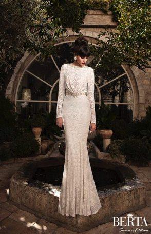 High Neck Wedding Gown || Berta