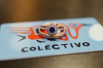 Yogo Sapphire Wedding Ring