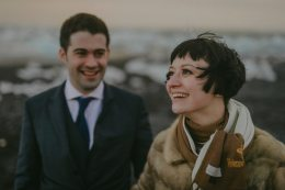Vintage Style Bride + Groom   Iceland Wedding
