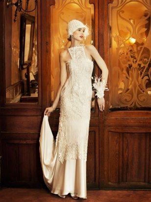 Yolan Cris Praga 1920s Style Wedding Gown