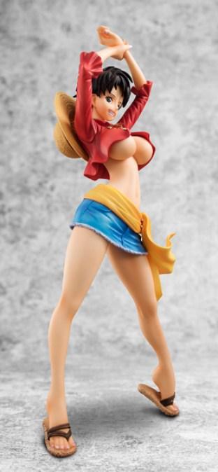 Monkey D Luffy figura mujer 05