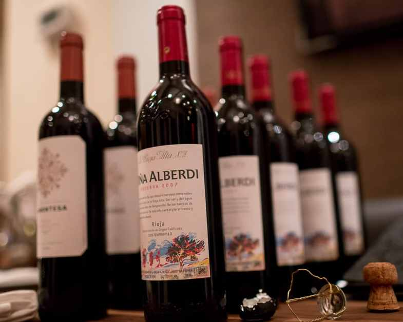 Bottles of Viña Alberdi and La Montesa