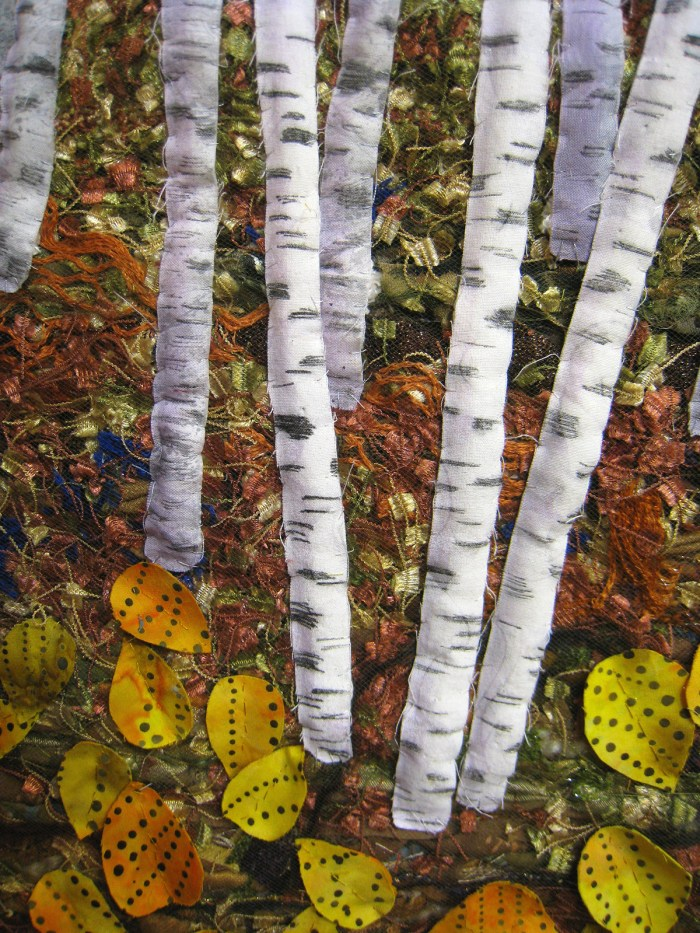 Birches (detail) © Roslyn DeBoer