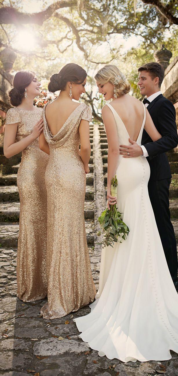 52 perfect low back wedding dresses bridesmaid wedding dresses Backless Wedding dress by Essense of Australia