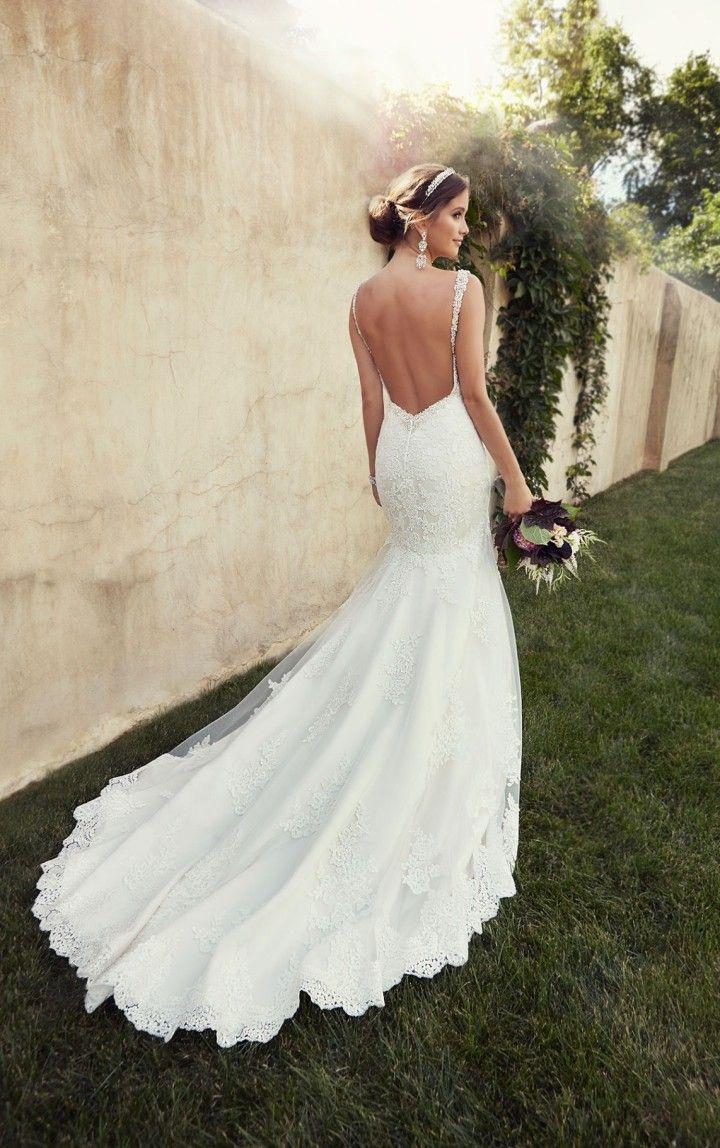 52 perfect low back wedding dresses open back wedding dresses Essense of Australia backless mermaid wedding dress