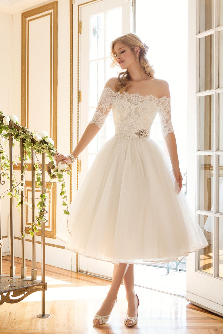 top 35 most loved tea length wedding dresses wedding dresses tea length tea length short wedding dress with sleeves