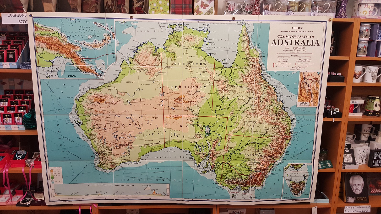 Philips  Large School Room Map of Australia   Physical  Image for Philips  Large School Room Map of Australia   Physical
