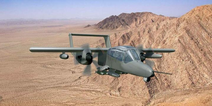 A version of the OV-10(X) Bronco that is one proposed candidate for the LAAR program. Courtesy of The Boeing Company via Robert F. Dorr