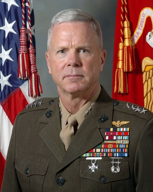 Gen. James F. Amos, shown here in his official photo as assistant commandant of the Marine Corps, is slated to become the next commandant. U.S. Marine Corps photo.