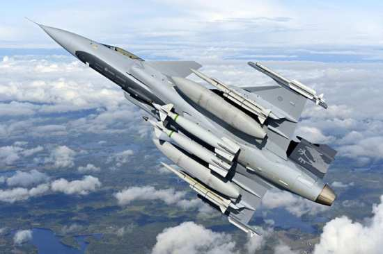 Saab's Gripen NG was one of the contenders in the competition for Brazil's F-X2 fighter competition and India's MMRCA program. Photo courtesy of Gripen International.