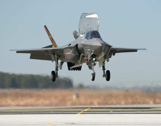 The F-35B airframe BF-01 made the first vertical landing in March 2010. Photo courtesy of Lockheed Martin.