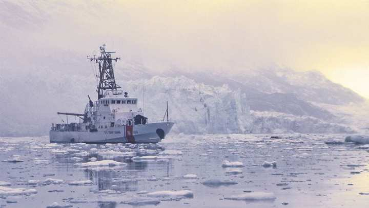 The Coast Guard Cutter Naushon conducts a familiarization patrol in Glacier Bay, Alaska. Patrols like this one demonstrate the Coast Guard's dedication to ports, waterways, and coastal security, regardless of the wind, water, or seas. U.S. Coast Guard photo by Petty Officer 3rd Class Logan Wright