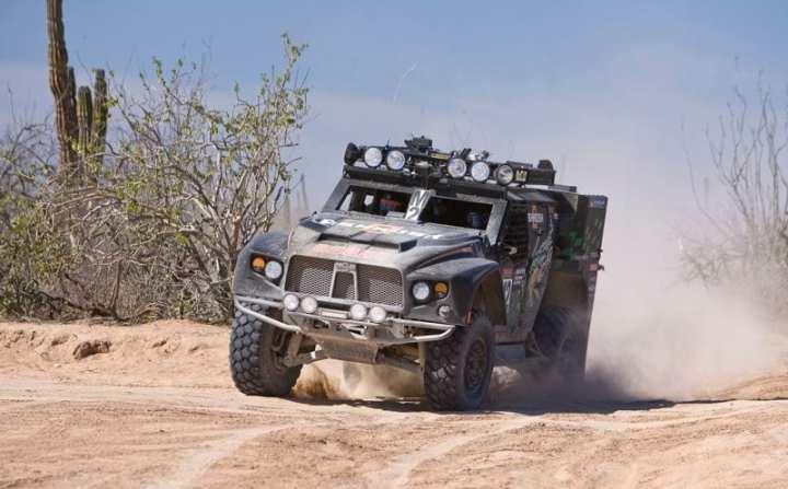 Oshkosh Extreme Racing's Light Combat Vehicle M2 on the Baja. Photo courtesy of Oshkosh Defense