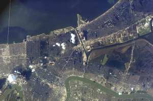 Flooded New Orleans NASA image