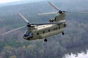 CH-47F in flight