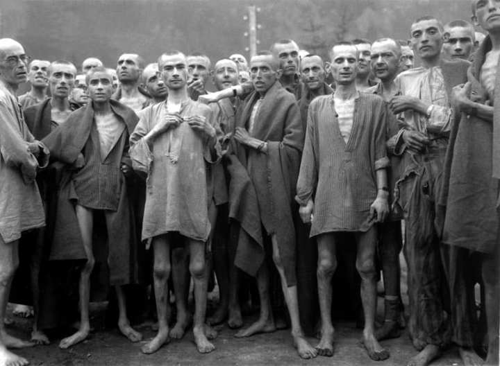 Concentration camp prisoners, Ebensee camp
