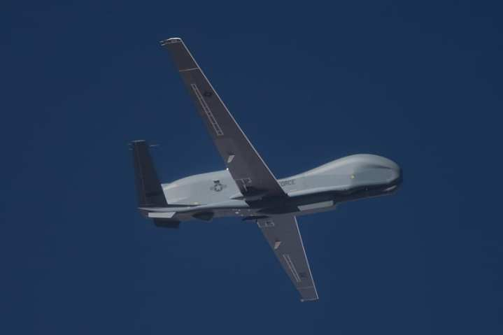 Block 40 Global Hawk on its second flight.