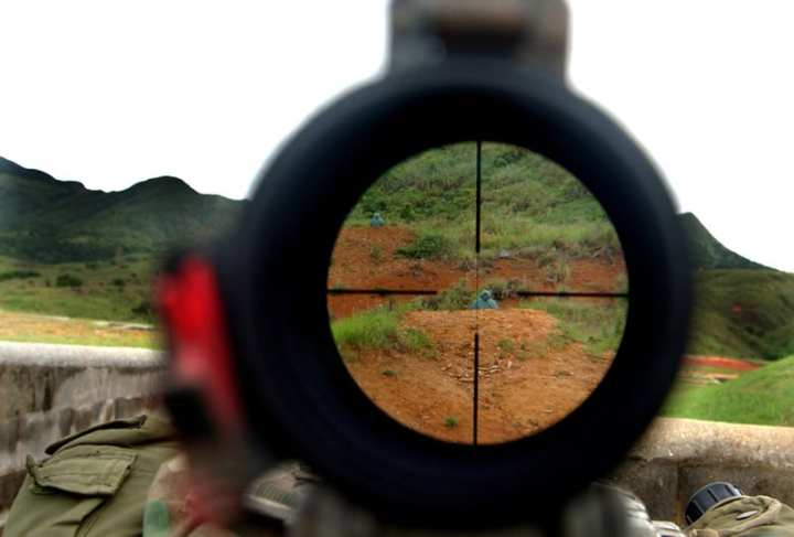 Scope reticle DARPA One Shot