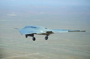 X-45 Phantom Ray's first flight, April 2011.