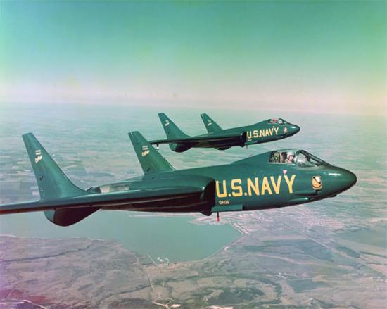 F7U Cutlass jets Blue Angels 1953