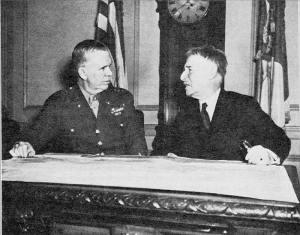 Gen. George C. Marshall and Secretary of War Henry L. Stimson