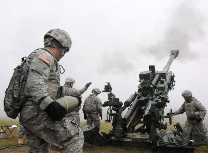 M777 Live Fire Training