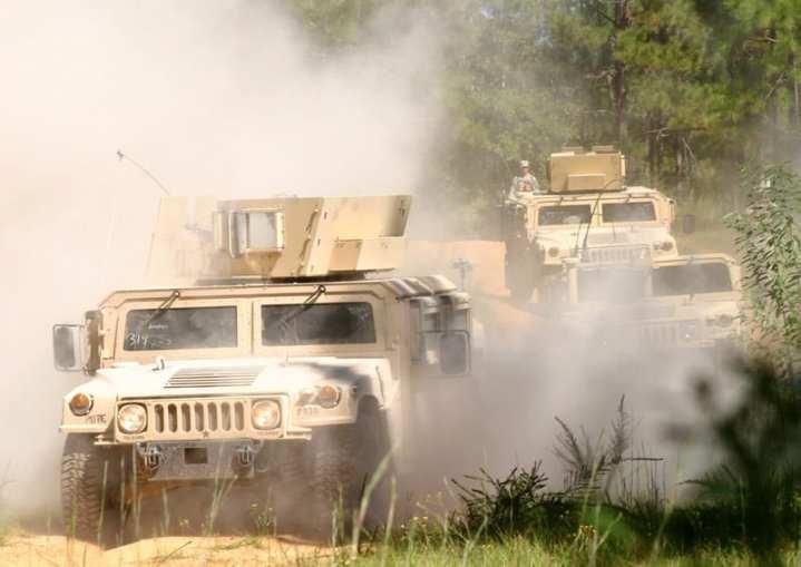 Ohio National Guard Humvees
