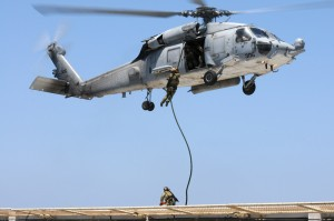 U.S. Navy SEAL Fast Roping Exercise