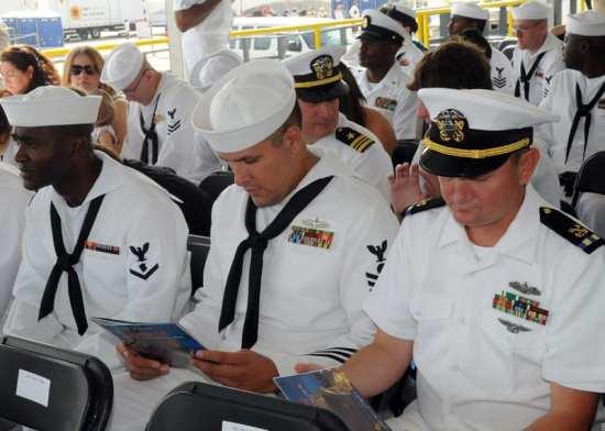 U.S. Navy Sailors at PCUSomerset Christening