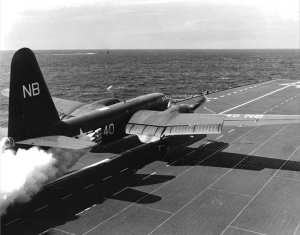P2V-3C CVB-41 launch 1949