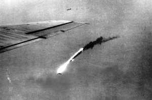 B-29 shot down by flak