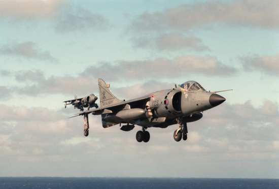British Navy Sea Harrier FRS1