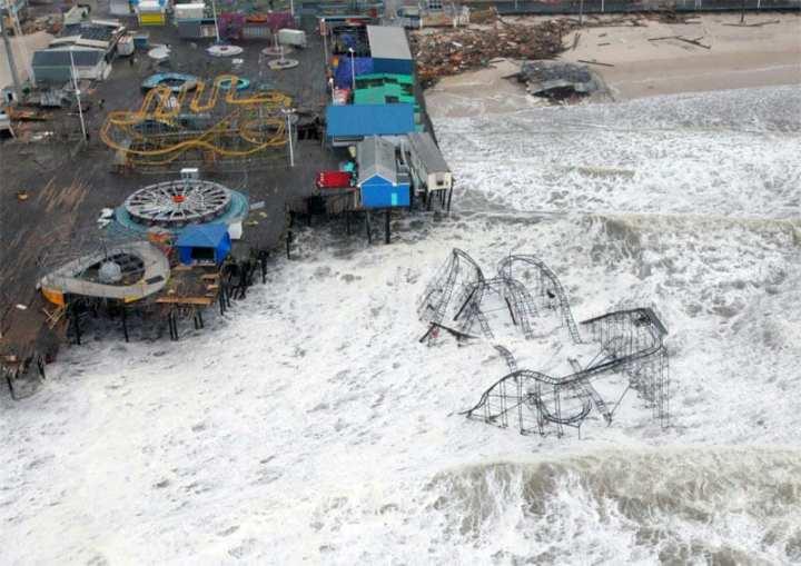 Rollercoaster Hurricane Sandy
