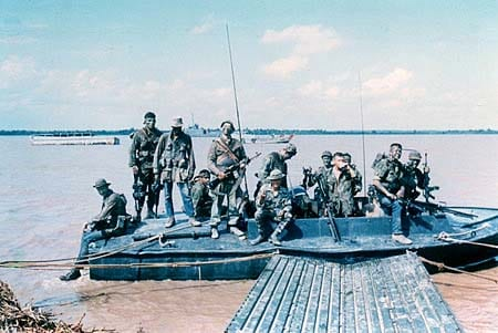 Michael Thornton and fellow SEALS in Vietnam