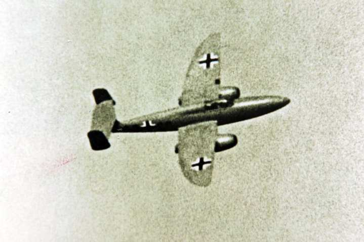 An He 280 during a test flight. The He 280 had the potential to have been a difference maker in World War II. San Diego Air & Space Museum Archives photo