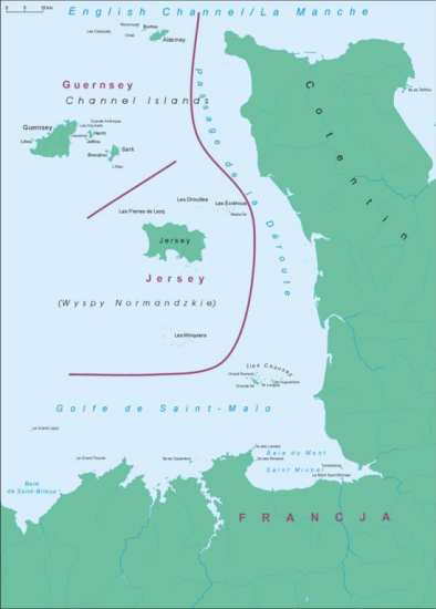 In December 1944, four German paratroopers and a Naval cadet escaped from a POW camp, eventually stole an American LCVP landing craft, and made their way to the German-occupied Channel Islands. Map by Aotearoa