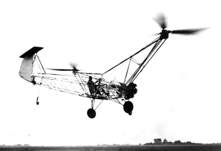 The first flight of the Focke-Achgelis Fa 61. The Fa 61 would make its public debut on Feb. 19, 1938. EADS Heritage photo
