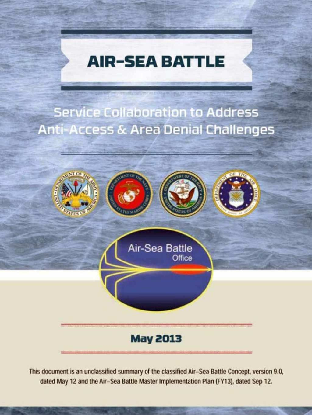 Air-Sea Battle: Service Collaboration to Address Anti-Access & Area Denial Challenges