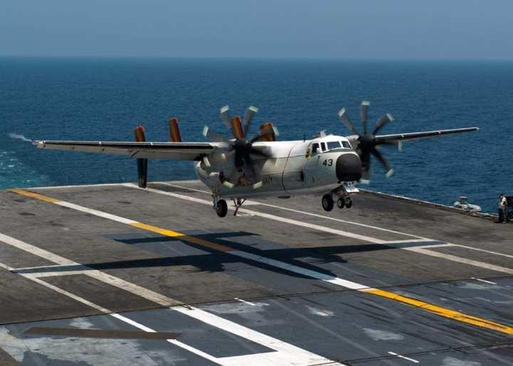 C-2A traps aboard