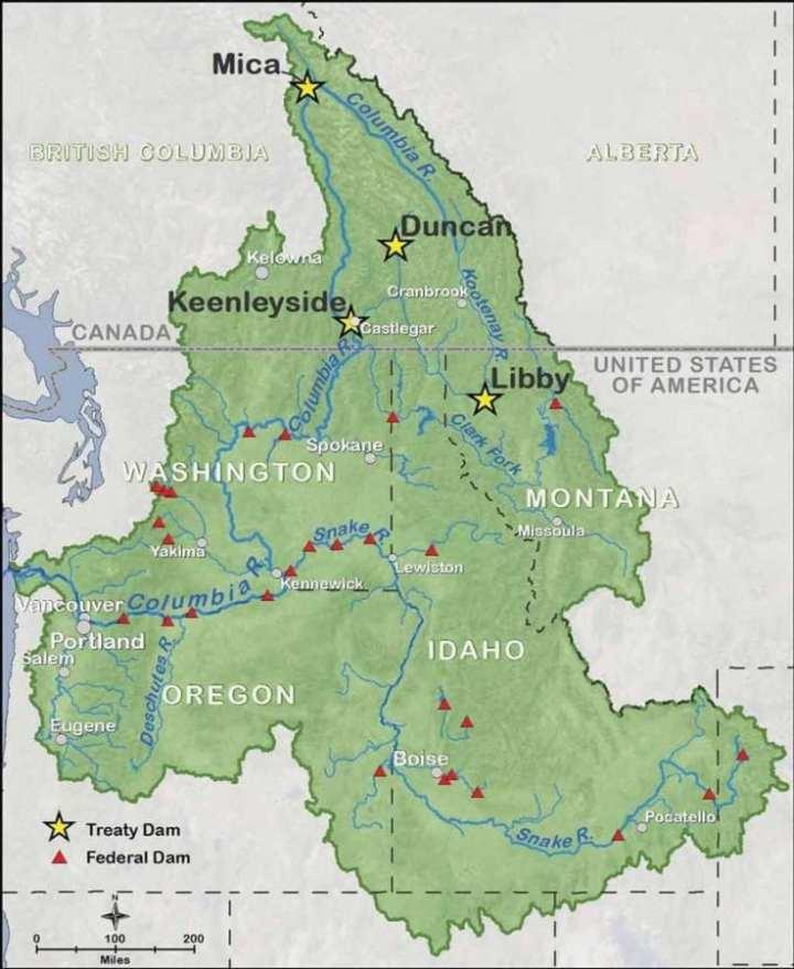 Columbia River Treaty Basin Map