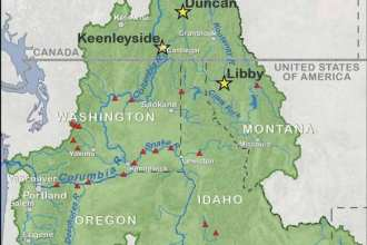 Columbia River Treaty Basin Map